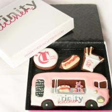 Trinty Kitchen cookies, edible invites by The Biscuit Box