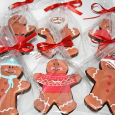 gingerbread men, christmas gift, corporate cookies