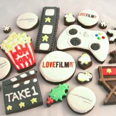 Lovefilm cookies, film biscuits, LOVEFILM biscuits