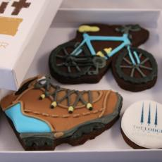 hiking cookie, bike cookie, The Lodge Verbier Cookies