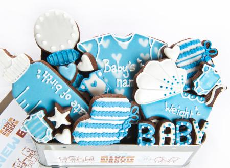 New baby cookies, baby biscuits, new baby gift, baby shower biscuits