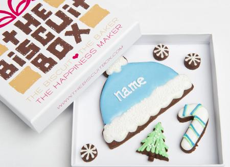 Bobble hat cookie, winter cookie, christmas biscuit