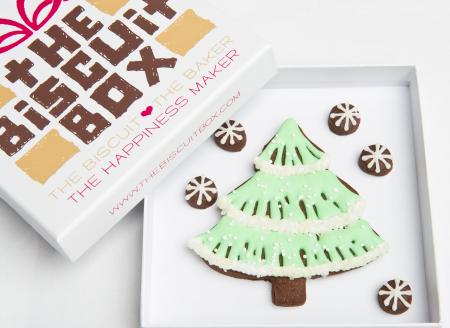 Fir tree biscuit, Tree biscuit, fir tree cookie, tree cookie by The Biscuit Box