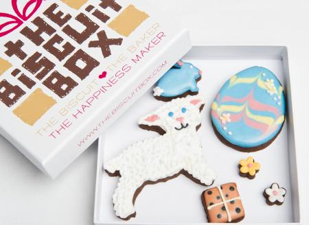 Lamb biscuit, easter biscuit, lamb cookie by the biscuit box