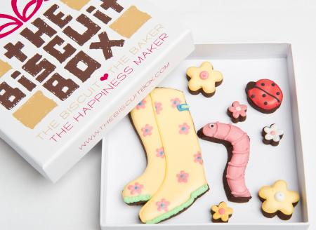 Wellies cookies, gardening gift, gardening biscuits by The Biscuit Box