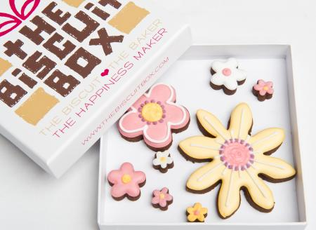 Flower cookie, flower gift, thank you cookies
