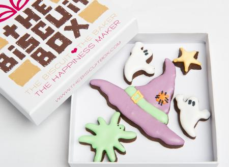 Witches Hat Broom Halloween biscuit cookie by The Biscuit Box