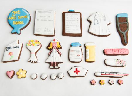 Get Well soon biscuits, get well cookies, get well gift by The Biscuit Box