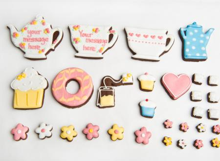 teapot biscuit,teacup cookie,iced biscuit by The Biscuit Box