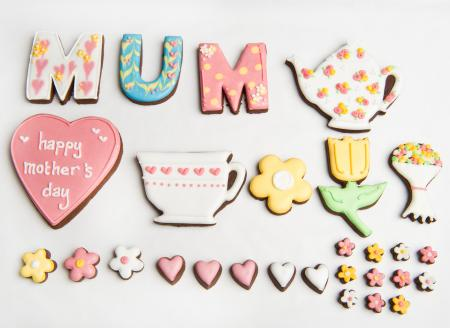 Mother's Day biscuits, mothers day cookies, mothers day biscuit gift