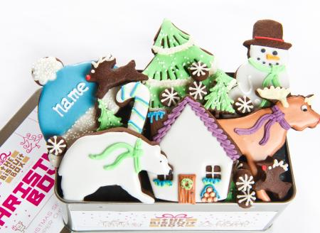 Winter cookies, Christmas cookies, Christmas biscuits, personalised biscuits