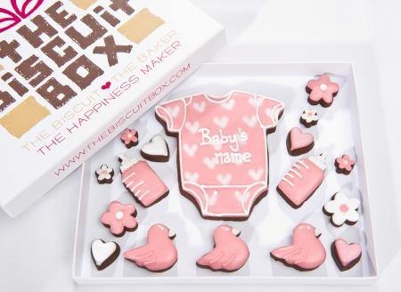 new baby Iced Biscuits, baby cookies by The Biscuit Box