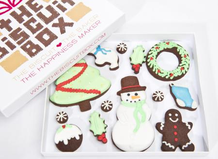 Christmas Biscuits, iced biscuits,christmas cookies by the biscuit box