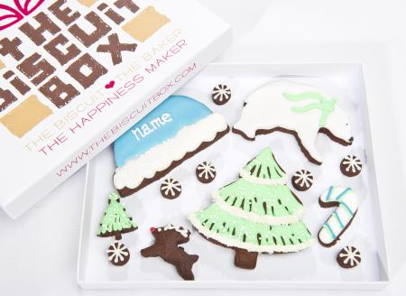 Winter cookies, winter biscuits, festive biscuits by the biscuit box