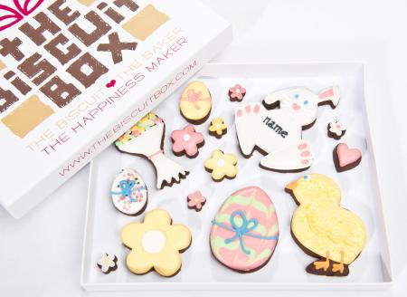 Easter biscuits, iced easter biscuits, Easter gift, edible easter gift