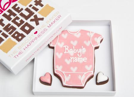 New Baby Girl Vest Iced Biscuits by The Biscuit Box