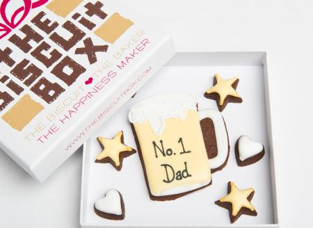 Beer glass Dad iced biscuit cookie by The Biscuit Box
