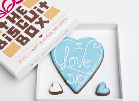 Love Dad, Dad biscuit, fathers day biscuit, love heart cookie