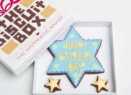 Father's Day star iced biscuits cookies by The Biscuit Box