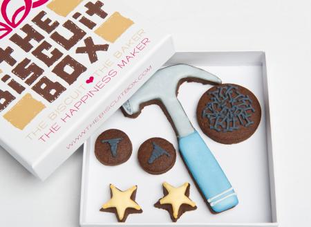 hammer screws iced biscuits cookies by The Biscuit Box