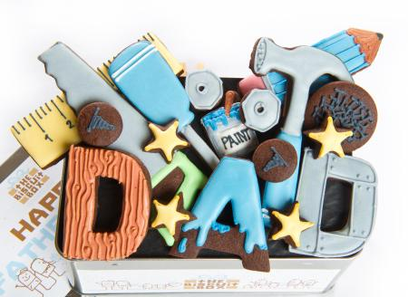 tools biscuits, Fathers Day biscuit Dad cookies by The Biscuit Box