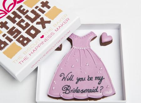 bridesmaid gift, bridesmaid cookie, bridesmaid biscuit, wedding cookie