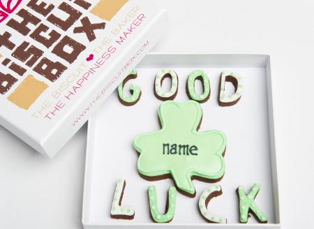 Good luck biscuit, good luck gift, good luck cookie
