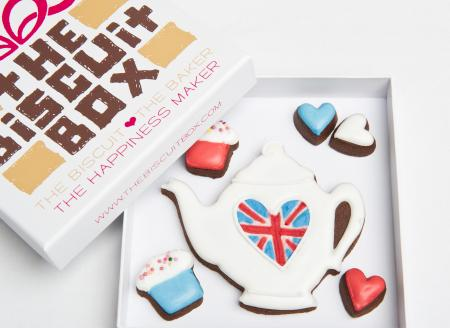 British cookie, Tea pot cookie Jubilee gift, Teapot biscuit