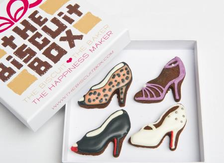 shoes, heels iced biscuit by The Biscuit Box