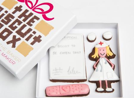 nurse perscription biscuit cookie by The Biscuit Box