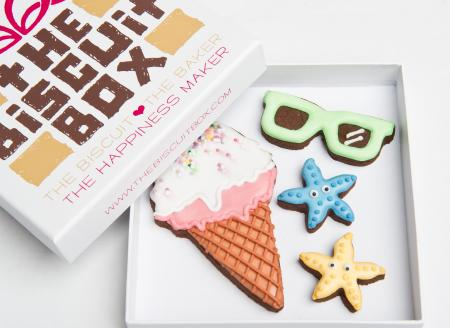 ice cream sunglasses starfish biscuit cookie by The Biscuit Box