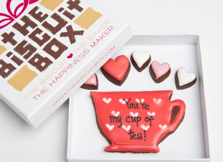 Teacup biscuit, teacup cookie, tea and biscuits, Valentines teacup