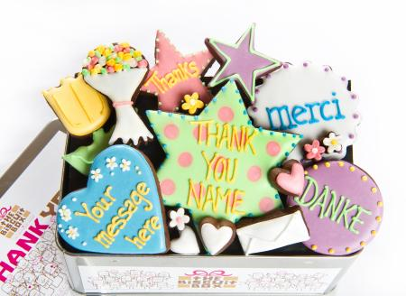 Thank You biscuits, thank you gift, thanks cookies by The Biscuit Box
