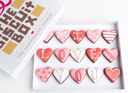 Valentines cookies, Valentines hearts, love biscuits, heart cookies,