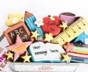 teacher cookies,thank you teacher biscuits by The Biscuit Box