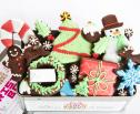Christmas tree pudding present wreath biscuit cookie by The Biscuit Box